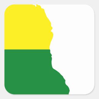 Adesivo Quadrado Mapa da bandeira de Delaware LGBT
