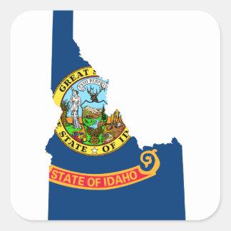 Adesivo Quadrado Mapa da bandeira de Idaho