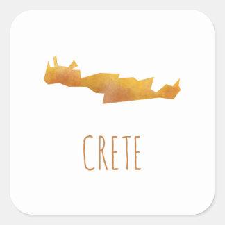 Adesivo Quadrado Mapa de Crete