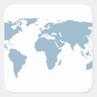Adesivo Quadrado Mapa do mundo