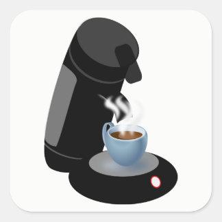 Adesivo Quadrado Máquina do café