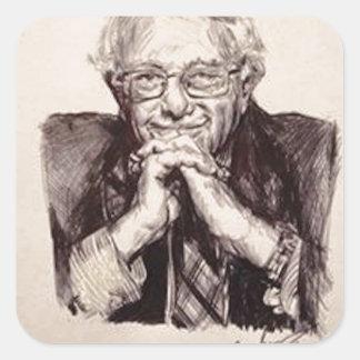Adesivo Quadrado Máquinas de lixar de Bernie por Billy Jackson