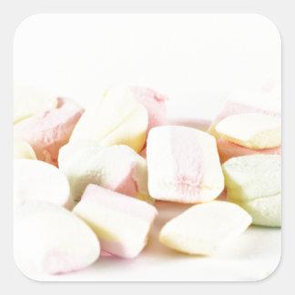 Adesivo Quadrado Marshmallows dos doces
