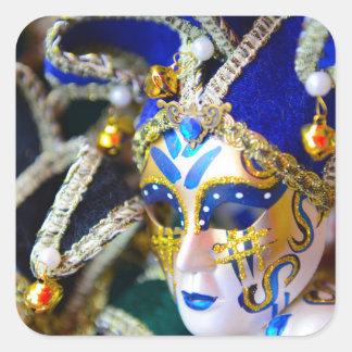 Adesivo Quadrado Máscaras do mascarada do carnaval em Veneza Italia