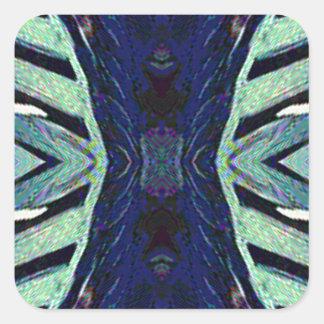 Adesivo Quadrado Máscaras Funky legal do design do abstrato do azul
