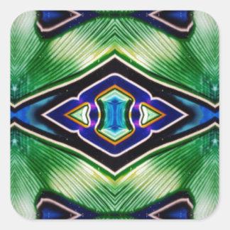 Adesivo Quadrado Máscaras ricas bonito da lavanda azul verde