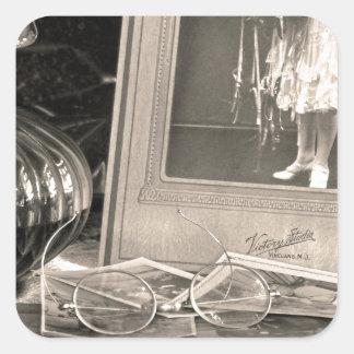 Adesivo Quadrado Memórias do vintage