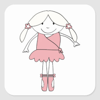 Adesivo Quadrado Menina da bailarina