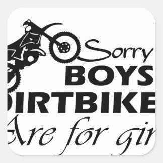 Adesivo Quadrado menina da bicicleta da sujeira