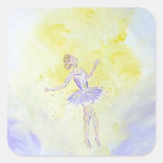 Adesivo Quadrado Menina de dança