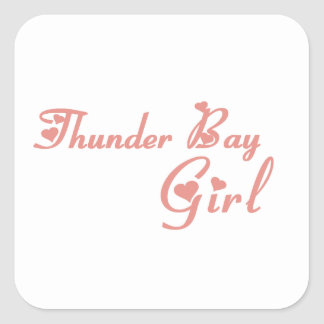 Adesivo Quadrado Menina de Thunder Bay