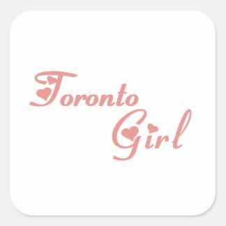 Adesivo Quadrado Menina de Toronto