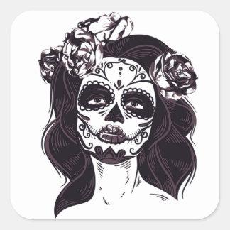 Adesivo Quadrado Menina do Ghoul