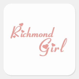 Adesivo Quadrado Menina do monte de Richmond