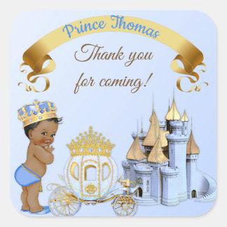 Adesivo Quadrado Menino real do príncipe Castelo Carruagem Azul