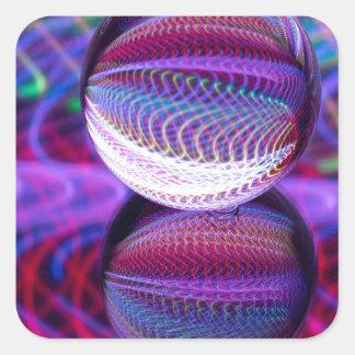 Adesivo Quadrado Mentiras na bola de cristal