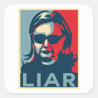 Adesivo Quadrado Mentiroso Anti-Hillary Clinton