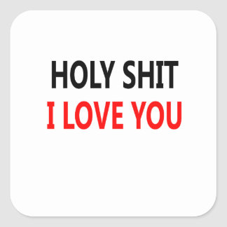 Adesivo Quadrado Merda santamente eu te amo (1)