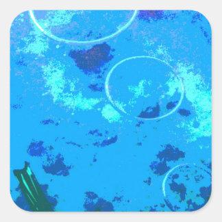 Adesivo Quadrado Mergulhador de mergulhador de Havaí
