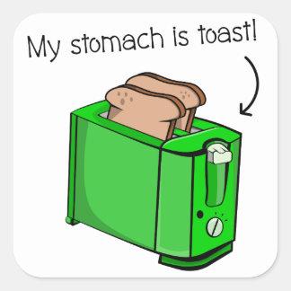 Adesivo Quadrado Meu estômago é brinde