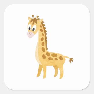 Adesivo Quadrado Meu girafa pequeno