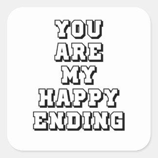 Adesivo Quadrado Meu término feliz