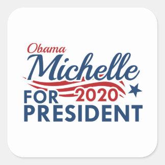 Adesivo Quadrado Michelle Obama 2020
