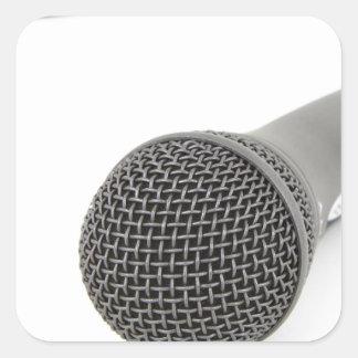 Adesivo Quadrado Microfone - conversa a mim