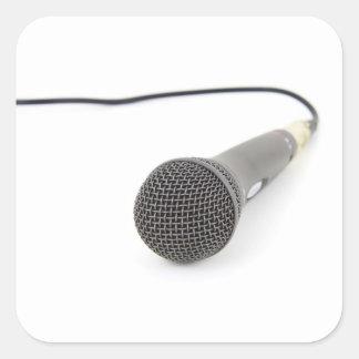 Adesivo Quadrado Microfone do estúdio