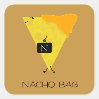 Adesivo Quadrado Microplaqueta de tortilha do SACO do NACHO com o