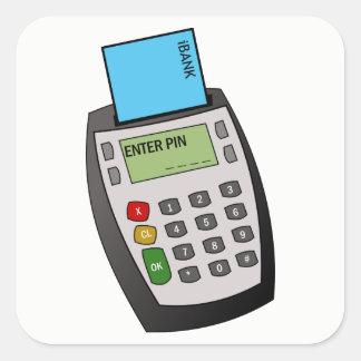 Adesivo Quadrado Microplaqueta e máquina do Pin