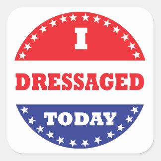 Adesivo Quadrado Mim Dressaged hoje