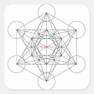 Adesivo Quadrado minha caixa é… O cubo de Metatron
