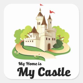 Adesivo Quadrado minha casa meu castelo