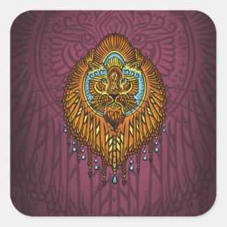 Adesivo Quadrado Minha voz interna, Tarot, força, innerpower