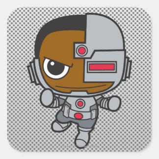 Adesivo Quadrado Mini Cyborg