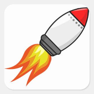 Adesivo Quadrado Míssil de Rocket