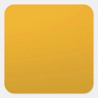 Adesivo Quadrado MODELO vazio do ouro: Adicione o texto, imagem,