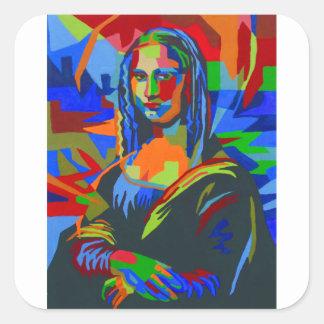 Adesivo Quadrado Mona Lisa Wpap