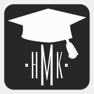Adesivo Quadrado Monograma da graduação