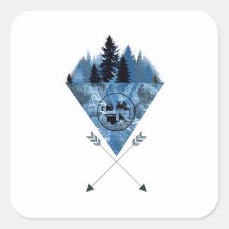 Adesivo Quadrado Montanha