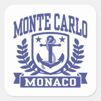 Adesivo Quadrado Monte - Carlo Monaco