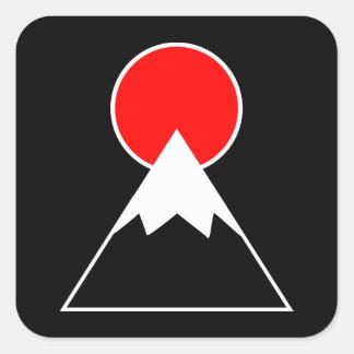 Adesivo Quadrado Monte Fuji inspirou