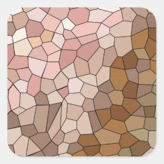 Adesivo Quadrado Mosaico do tom de pele