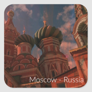 Adesivo Quadrado Moscow_russia