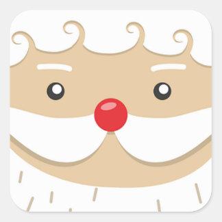 Adesivo Quadrado Motivo do Natal de Papai Noel