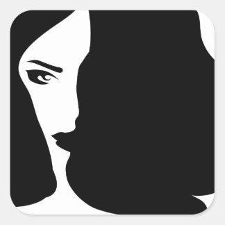 Adesivo Quadrado mulher