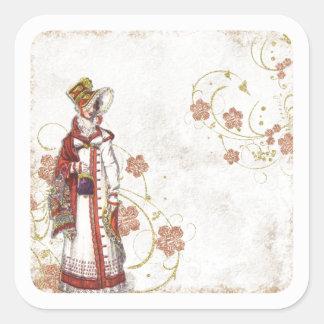 Adesivo Quadrado Mulher do Victorian