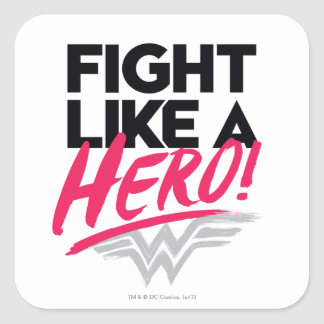 Adesivo Quadrado Mulher maravilha - luta como um herói