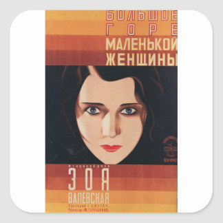 Adesivo Quadrado Mulher nova má do russo